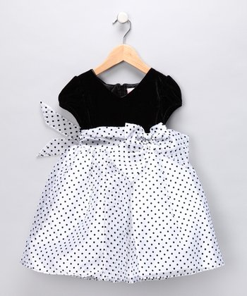 Black & White Polka Dot Dress - Toddler & Girls
