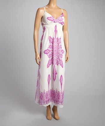 Purple Paisley Surplice Maxi Dress