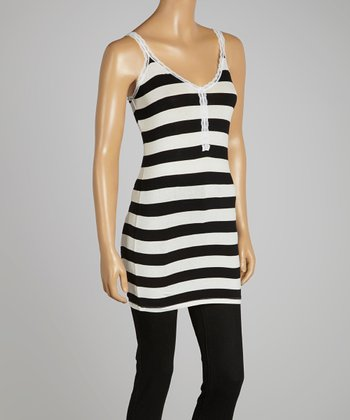 Black & White Stripe Tank