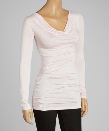 Pink Drape Neck Tunic