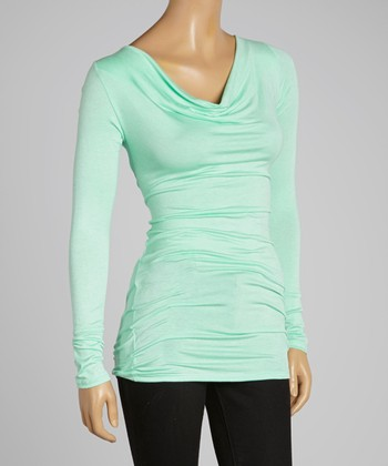 Mint Drape Neck Tunic