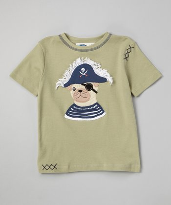 Tea Pirate Dog Tee - Toddler & Boys