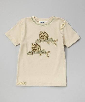 Oyster Gray Flying Fish Tee - Toddler & Boys