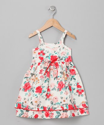 White Callie's Floral Organic Lily Dress - Infant & Toddler
