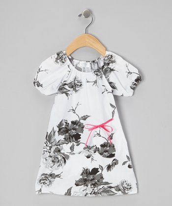 White Stella's Floral Peasant Dress - Infant