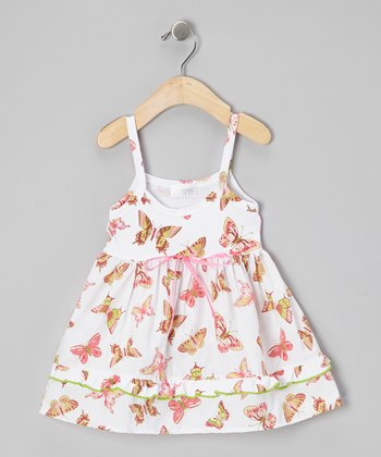 White Butterfly Baby Organic Lily Dress - Infant & Toddler