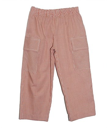 Burnt Orange Gingham Pants - Infant, Toddler & Boys