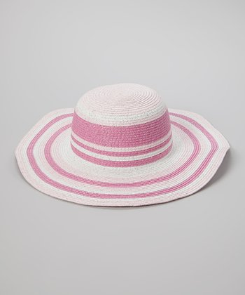 Pink & Hot Pink Metallic Floppy Sunhat