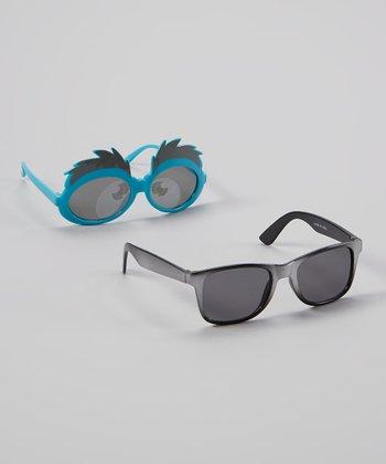 Accessories 22 Blue & Gray Eyebrow Sunglasses Set