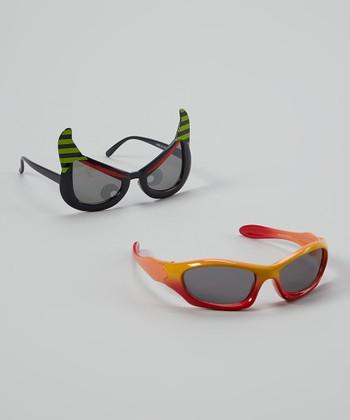 Accessories 22 Black & Green Monster Sunglasses Set