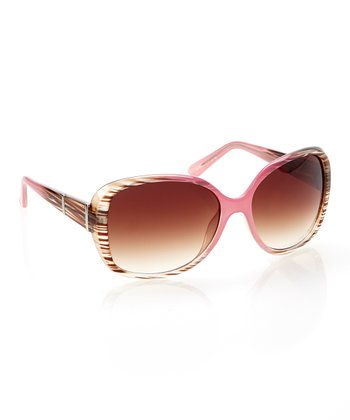 Wood & Milky Red Square Sunglasses