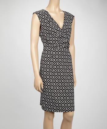 Shelby & Palmer Black & Ivory Geometric Dress