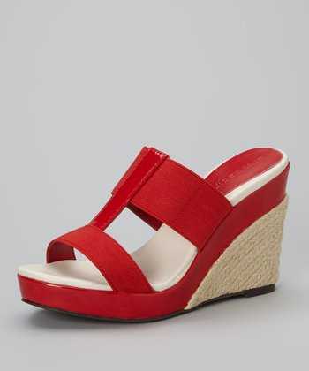 Red Joust Wedge Sandal