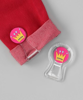Pink & Blue Crown Pants Cuff Fastener Set