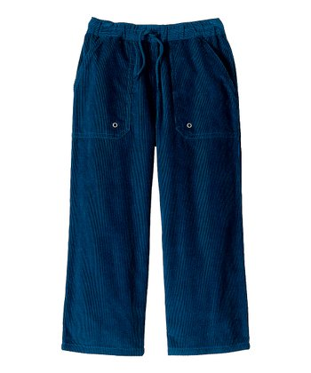 Navy Carefree Corduroy Pants - Infant, Toddler & Boys