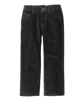 Artifact Gray Slim-Fit Corduroy Pants - Infant, Toddler & Boys