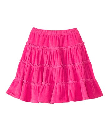 Pink Garden Twirly Corduroy Skirt - Infant, Toddler & Girls