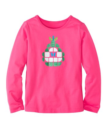 Pink Garden Glitter Pear Tee - Infant, Toddler & Girls