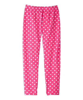 Pink Garden Pitter Pattern Leggings - Infant, Toddler & Girls