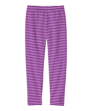 Grape & Orchid Stripe Livable Leggings - Infant, Toddler & Girls