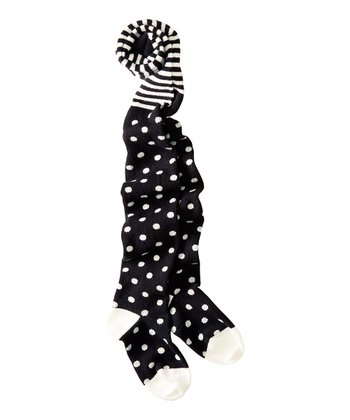 Black & White Polka Dot Tights - Infant, Toddler & Girls