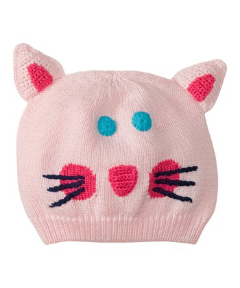 Pink Kitty Snug as a Bug Beanie
