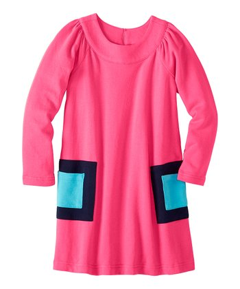 Pink Garden Modern Art Pocket Dress - Infant, Toddler & Girls