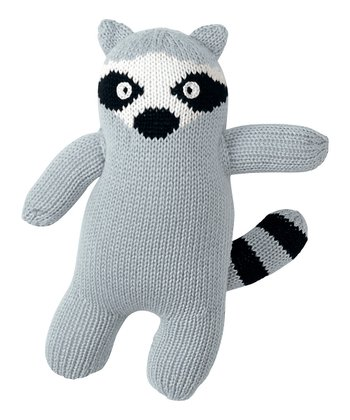Gray Raccoon Hand-Knit Plush Toy