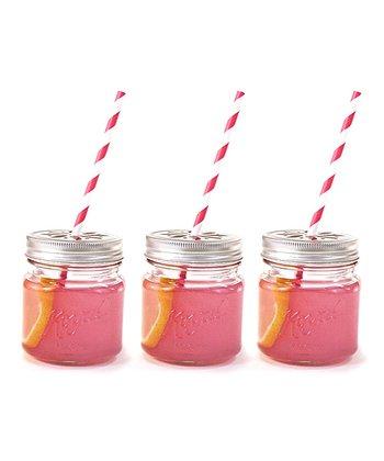 Drinking Mason Jars & Lids - Set of 12