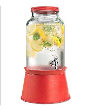Red 1.5-Gal Beverage Dispenser