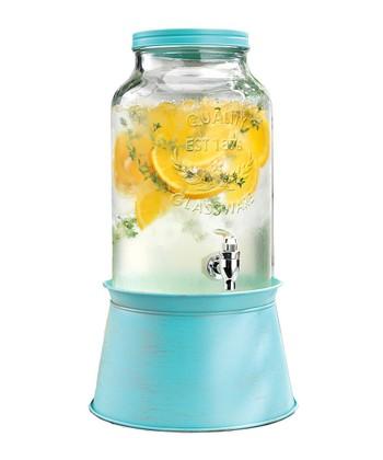 Blue 1.5-Gal Beverage Dispenser