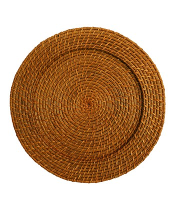 Honey Rattan Charger Plate - Set of Four