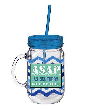 'ASAP' Insulated Mason Jar Cup & Straw