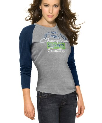Seattle Seahawks 'Champions' Long-Sleeve Top - Women