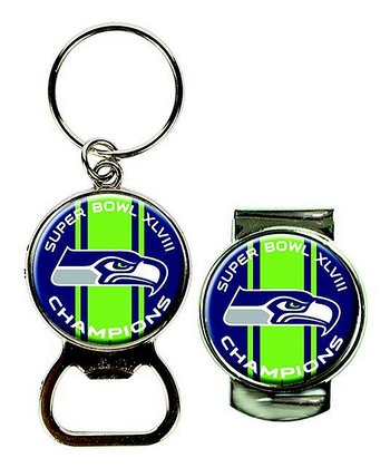 Seattle Seahawks Super Bowl Magnetic Bottle Opener & Money Clip