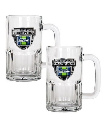 Seattle Seahawks 'Champions' 20-Oz. Mug - Set of Two