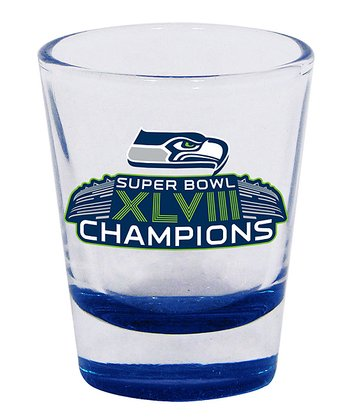 Seattle Seahawks Blue 'Champions' Shot Glass