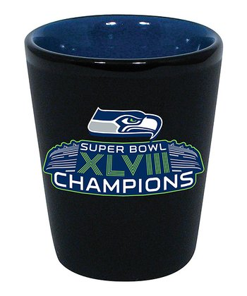 Seattle Seahawks Black 'Champions' Shot Glass