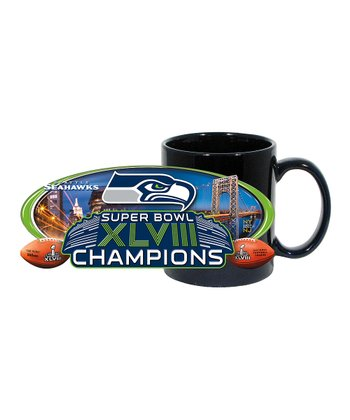 Seattle Seahawks Black 'Champions' Coffee Mug