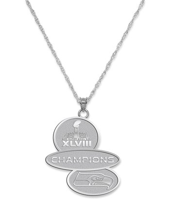 Seattle Seahawks 'Super Bowl Champions' Sterling Silver Necklace