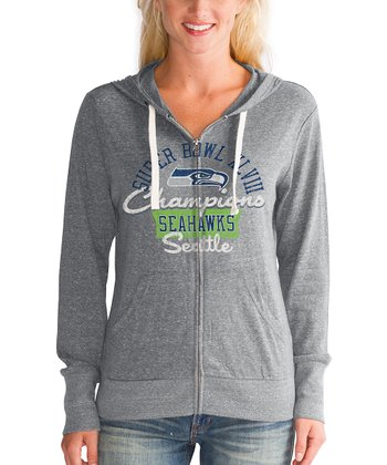 Seattle Seahawks 'Champions' Zip-Up Hoodie - Women