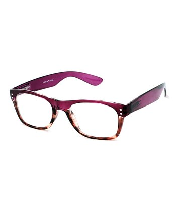 Burgundy & Tortoise Leaves Readers