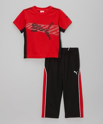 Red & Black Angle Tee & Pants - Infant, Toddler & Boys
