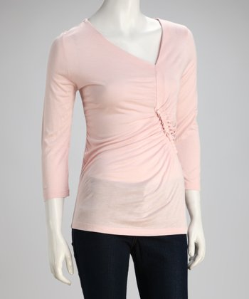 Pretty Pink Three-Quarter Sleeve Top