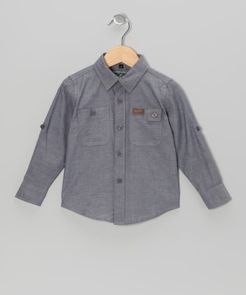 Slate Chambray Button-Up - Toddler & Boys