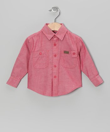 Strawberry Chambray Button-Up - Infant, Toddler & Boys