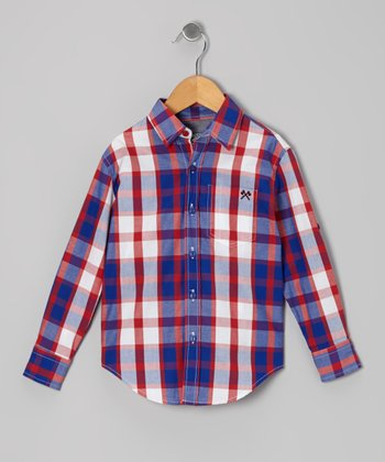 Red & Purple Signature Plaid Button-Up - Infant, Toddler & Boys