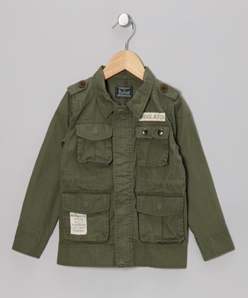 Green Army Jacket - Boys