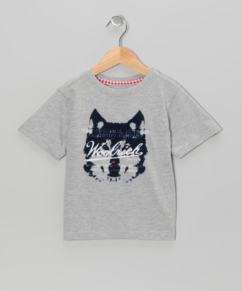 Heather Gray Huskie Tee - Boys