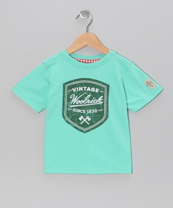 Green 'Woolrich' Tee - Boys
